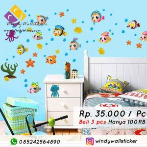 wall sticker ikan di Makassar
