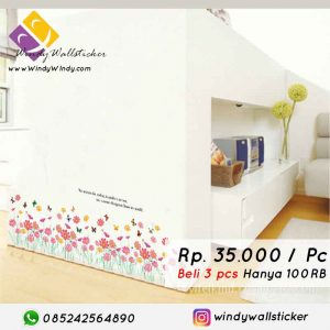 wall sticker bunga-bunga