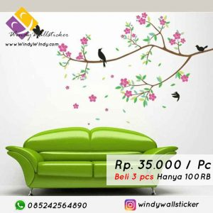 wall sticker burung makassar