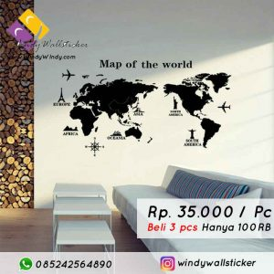 wall sticker peta di makassar