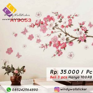 wall sticker pink sakura
