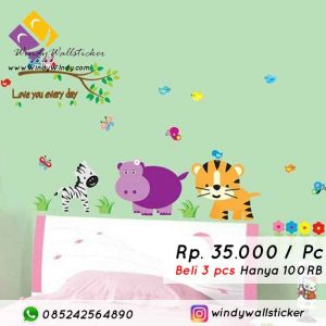 wall sticker animal makassar
