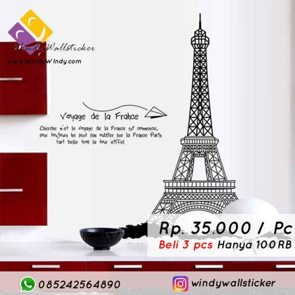 wall sticker eiffel tower makassar