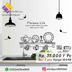 wall sticker lampu makassar