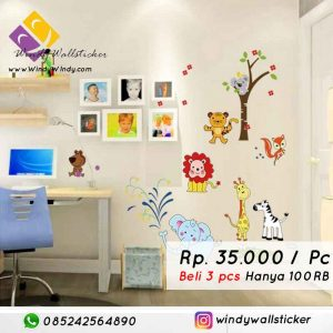 wall sticker animal lion makassar